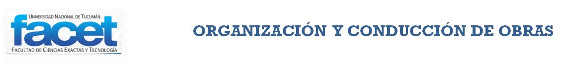 Organización y Conducción de Obras logo